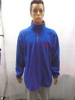 Vintage New York Giants Mirage Fleece Pullover 1/4 zip Mens L NFL Blue