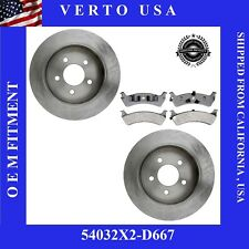 Set Of 2 Disc Brake Rotors & Pads  Rear , 54032X2-D667