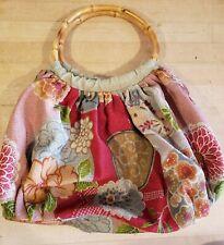 Kimono Purse With Wooden Handles