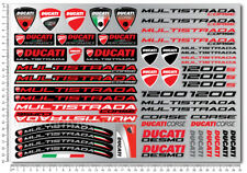 Multistrada 1200 motorcycle bike decals fairing stickers Laminated Ducati 1200s