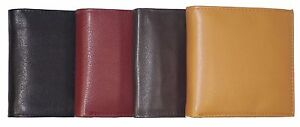 New Men's Leather Bifold Wallet Large Hipster Cowhide Credit Card/ID and Inserts