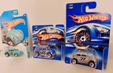"Hot Wheels LOT OF 3 VWs: TWO Card Variants #161 &  ONE ""Tooned Beetle"" **2 MOC**"