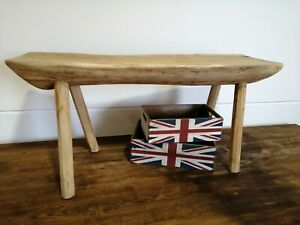 Oak rustic natural wooden bench Coffee Table