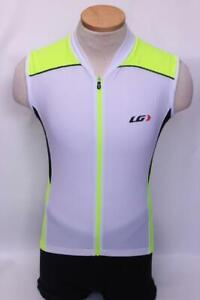 New Louis Garneau Men's Mistral Vent Jersey Cycling Bike XS Sleeveless White