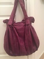 $3000+ AUTH. ZAGLIANI PURPLE PYTHON SNAKESKIN SOHO HOBO BAG! EXCELLENT CONDITION