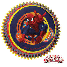 NEW SPIDEMAN MARVEL SUPERHERO BOYS BAKING CUPS CUPCAKE LINERS BIRTHDAY PARTY