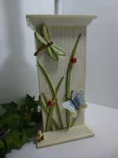 """Beautiful 20"""" DRAGONFLY~LADYBUG~BUTTERFLY Table Lamp CLOTH SHADE Be A Love Bug!"""