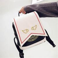 Cute Anime Card Captor Sakura Kinomoto Lolita Magic School Shoulder Bag Backpack