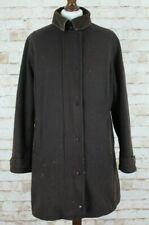 BARBOUR Wool Newmarket Waterproof and Breathable Brown Tench Coat size Uk 14