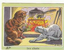 N°33 CHATS CATS Felis Silvestris Catus CHEMINEE FIREPLACE BON POINT IMAGE CARD