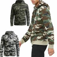 Mens Camo Army Hoodie Forever 21 Hooded Pullover Sweatshirt Jumper Pullover Top