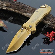 "8"" TRUMP PRESIDENTIAL EDITION Gold Ti-Coated Tanto TACTICAL Pocket Folding Knife"