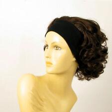 parrucca con bandana elastica corta cioccolato mechato rame ANA 6h30 PERUK
