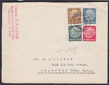 DR ZD S 151, S 163 MiF Ausland Brief, Hamburg - Superior USA 1939