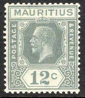 Mauritius 1921 grey 12c Tybe B  multi-script CA mint SG232b