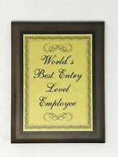 Aahs Engraving Worlds Greatest Plaques (World's Best Entry Level Employee, Gold