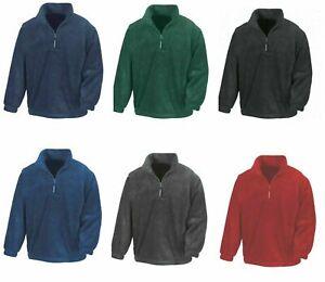 Result Mens Polartherm™ Zip Neck Fleece Winter Warm Easy Care Plain Jacket New
