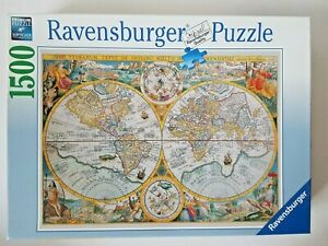 Ravensburger World Map 1594 1500 Pieces Jigsaw Puzzle Softclick Made in Germany