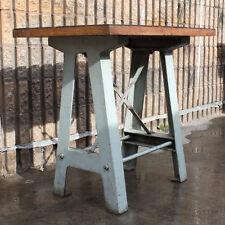 Vintage retro industrial table cast iron base furniture kitchen unique bench