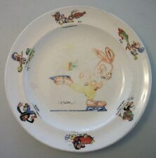 VTG? Oswald Rabbit Fe Fi Fo Meany Miny Moe Childs Plate Seabring Pottery W Lantz
