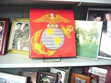 EGA, USMC Wall Plaque, Created on red Wool, Mint condition .Original PX Box
