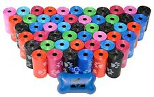 Dog Poop Bags for Pet Waste, Clean Up Refills on a Roll (Variety Sizes & Colors)