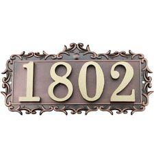 4Numbers House Apartment Door Number Letter Address Plaque Metal Copper Custom