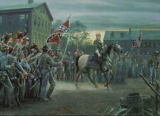General Robert E. Lee, Twilight in Gettysburg PA --- Military Civil War Postcard