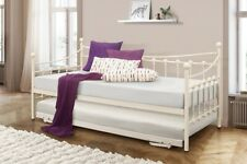 Birlea NEW 3FT Single Classy Cream Metal Chantelle Guest Day Bed With Trundle