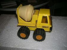 Vintage Buddy L Cement Concrete Construction Yellow Truck White Mixer WORKS