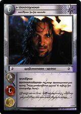 LoTR TCG FoTR Fellowship Of The Ring Aragorn, Ranger Of The North 1R89 Tengwar