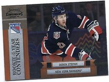 2010-11 PLAYOFF CONTENDERS DEREK STEPAN RC PANINI ROOKIE OF THE YEAR #2 RANGERS