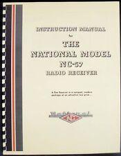 National NC-57 NC57 Radio Receiver Manual