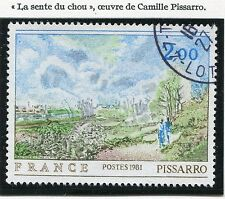 STAMP / TIMBRE FRANCE OBLITERE N° 2136 TABLEAU PISSARO