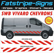 VAUXHALL VIVARO VAN GRAPHICS STICKERS DECALS MOTOCROSS MX RACE VAN SWB CHEVRONS
