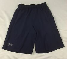 Under Armour MEN'S Athletic Shorts Loose Heat Gear Navy Blue 1291321 Size 2XL