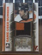 11/12 BROAD ST BOYS - DAVE BROWN - NUMBER ORANGE ITG FINAL VAULT 15/16 #1/1 RED