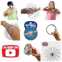 Magic Flow Rings Toy 3D Kinetic Spring Slinky Juggle Dance Gravity Arm Spring