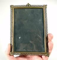 ANTIQUE BRONZE PHOTO  FRAME WITH GLASS