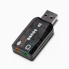 USB 2.0 External Mic Speaker 3D 5.1-Kanal-Audio PC Soundkarte Adapter Mode