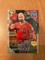 2019 Topps Series 1 - Albert Pujols - 150 Years of Baseball Insert 150th #d /150