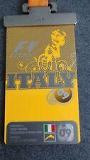 Formel 1 VIP Ticket Paddock Club 2009 Monza mit Band Stoff
