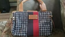 kate spade new York Dot Noel Classic Tote Bag Brown Leather & Red EUC