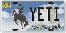 Bigfoot YETI Sasquatch metal Wyoming License Plate
