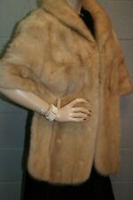 Champagne Blonde Vtg 50s 60s Mink Fur Stole Wedding Wrap Cape Coat 1950s 1960s