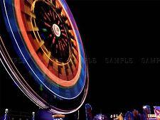 PHOTO TIME LAPSE NIGHT SCENE FERRIS WHEEL FAIRGROUND LUNA POSTER PRINT BMP10436