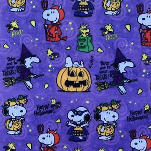 FQ SNOOPY HALLOWEEN PUMPKINS CHARLIE BROWN CHARACTER POLYCOTTON FABRIC