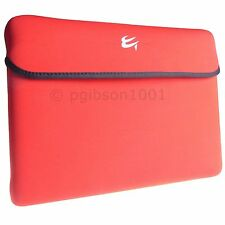 """15.6"""" Laptop Reversible Slip Case Skin Red And Black Computer Gear 24-0857"""