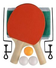 INSTANT TABLE TENNIS SET QUICK INDOOR PING PONG PADDLE BAT BALLS NET HOME OFFICE