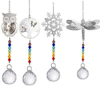 Snowflake Owl Lighting Prisms Ball Pendant Crystal Hanging Curtain Decor Party